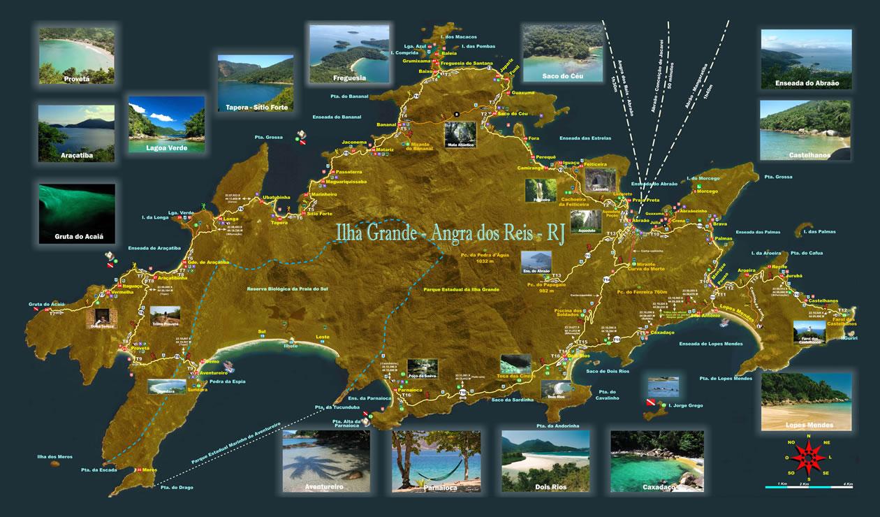 Mapa da Ilha Grande